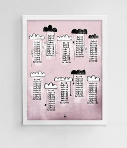 CLOUDS - multiplication table